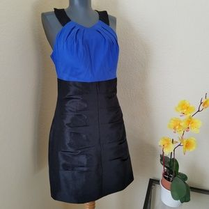 NWT Alyn Paige Blue Black Special Occasion Dress